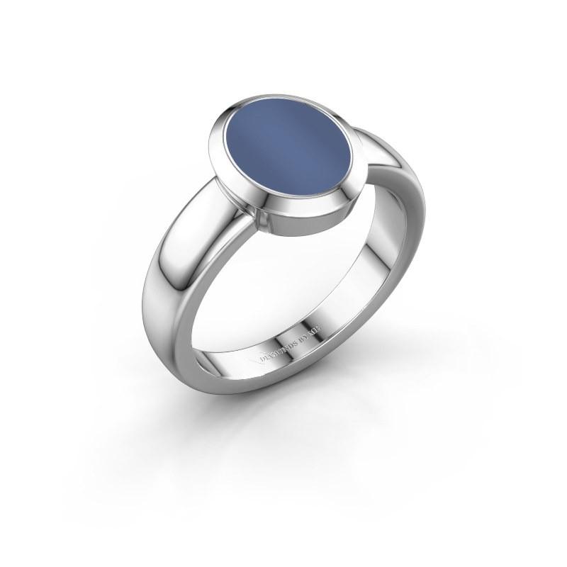 Signet ring Freeda 1 950 platinum blue sardonyx 10x8 mm