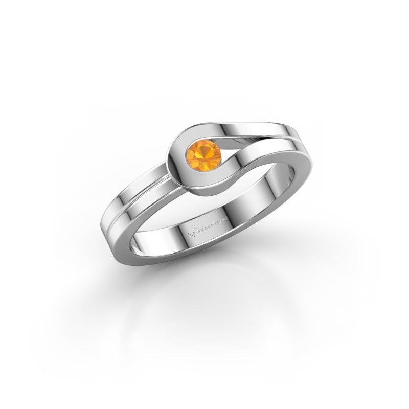 Ring Kiki 925 silver citrin 3 mm