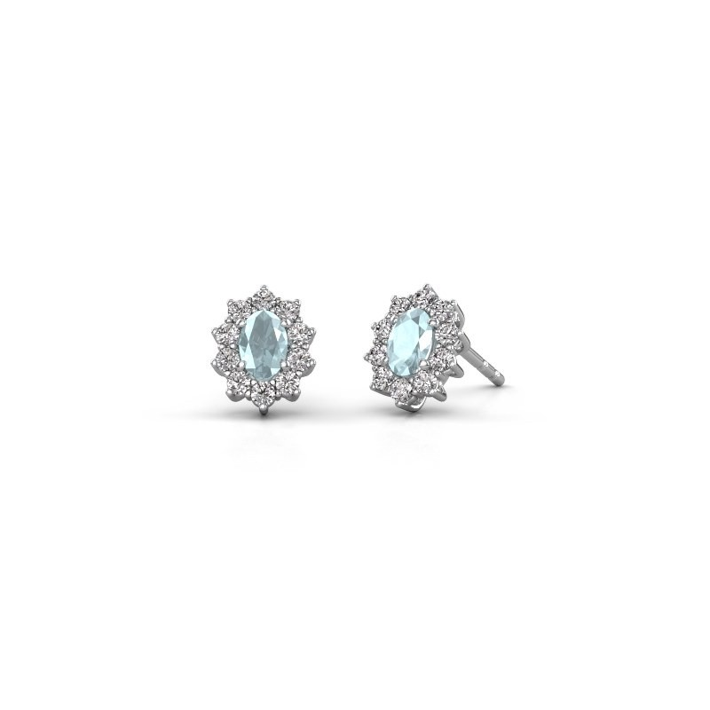 Ohrringe Leesa 925 Silber Aquamarin 6x4 mm
