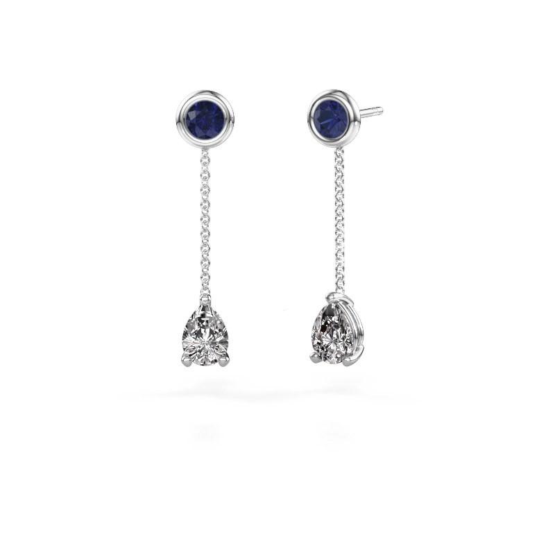 Drop earrings Laurie 3 585 white gold diamond 0.65 crt