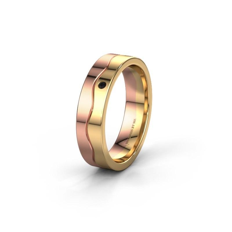 Ehering WH0701L15AP 585 Roségold Schwarz Diamant ±5x1.7 mm
