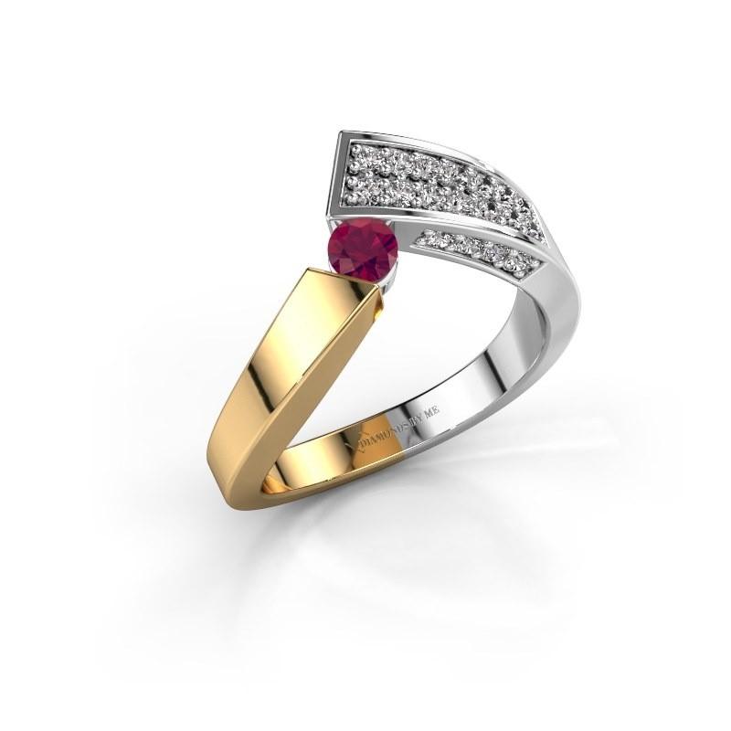 Ring Evie 585 Gold Rhodolit 3.4 mm