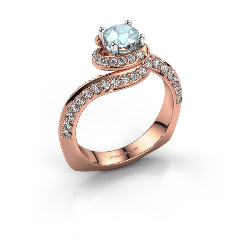 Engagement ring Sienna 585 rose gold aquamarine 5 mm