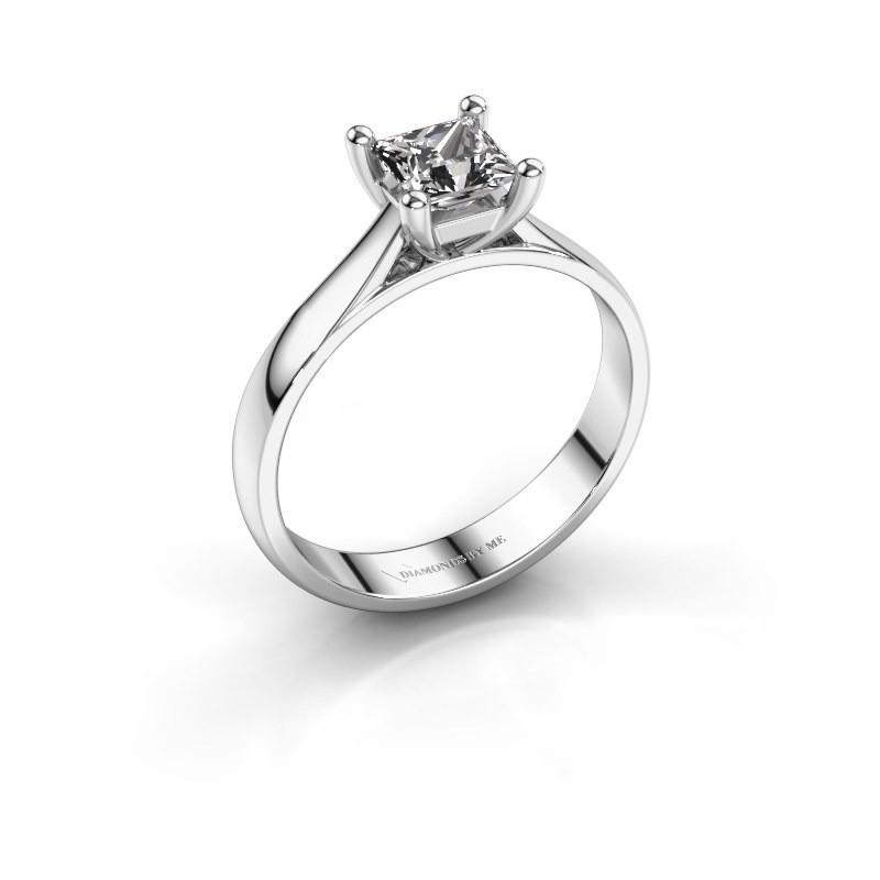 Engagement ring Sam Square 585 white gold diamond 0.50 crt