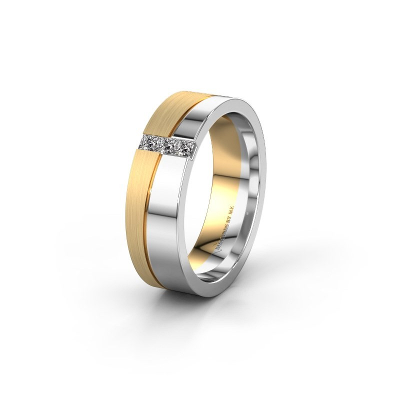 Trouwring WH0906L16A 585 witgoud diamant ±6x1.7 mm