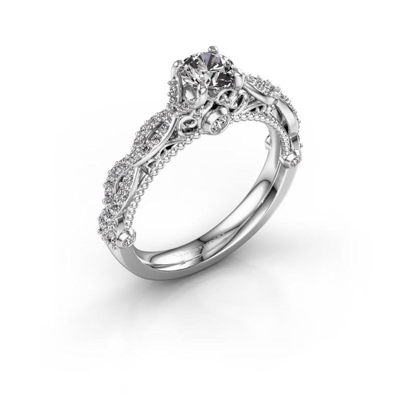 Verlovingsring Chantelle 585 witgoud diamant 0.892 crt
