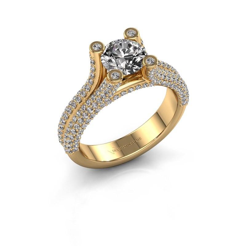 Verlovingsring Stefanie 2 375 goud diamant 2.00 crt
