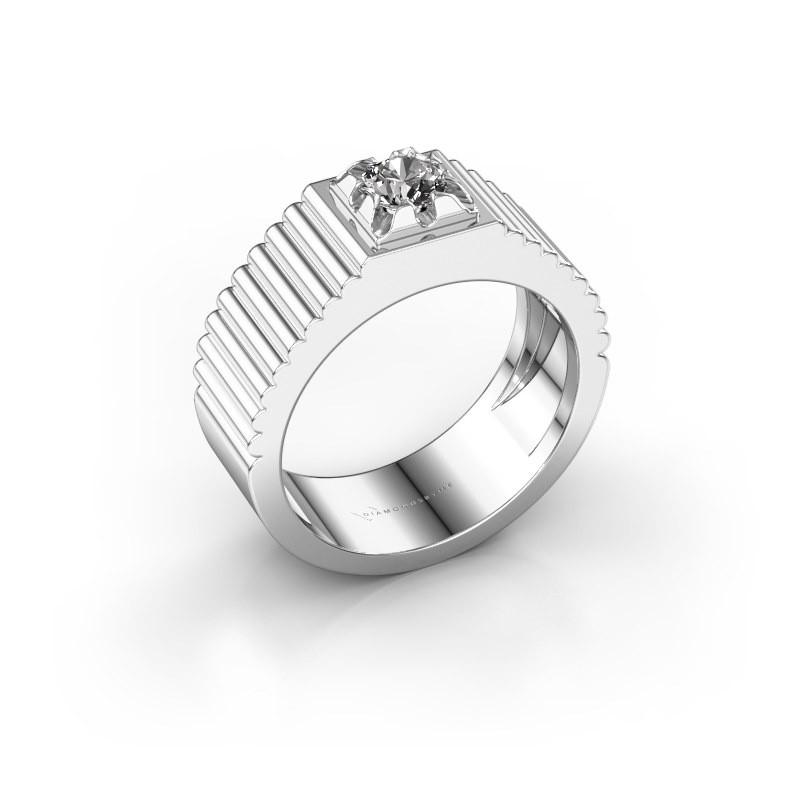 Pinky Ring Elias 950 Platin Diamant 0.40 crt