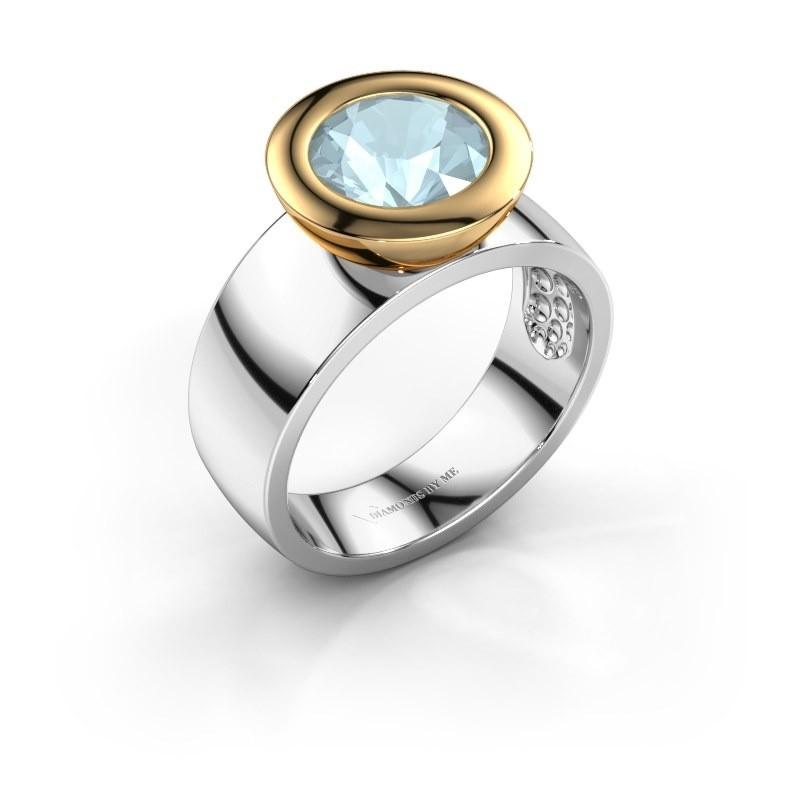 Ring Maxime 585 white gold aquamarine 8 mm