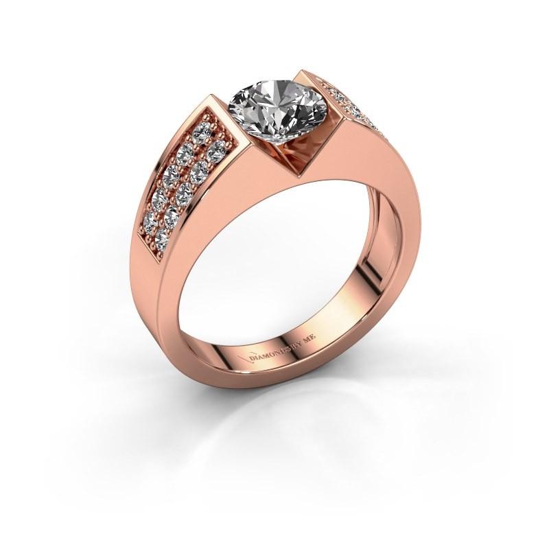 Verlovingsring Lizzy 3 375 rosé goud diamant 1.40 crt