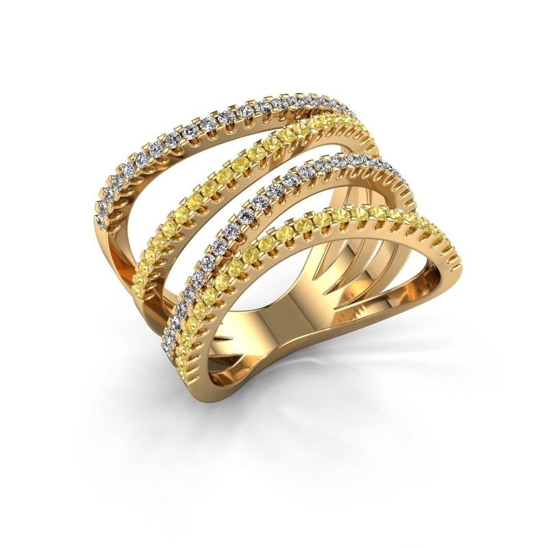 Ring Mitzi 375 goud gele saffier 1.2 mm