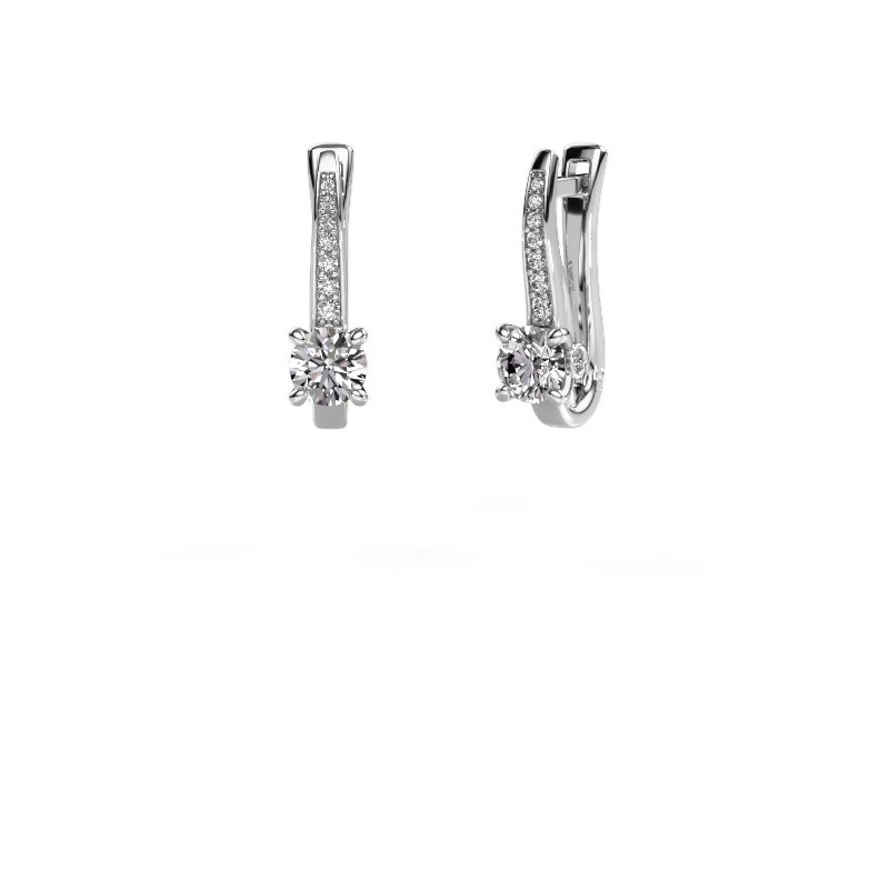 Oorbellen Valorie 950 platina diamant 1.18 crt