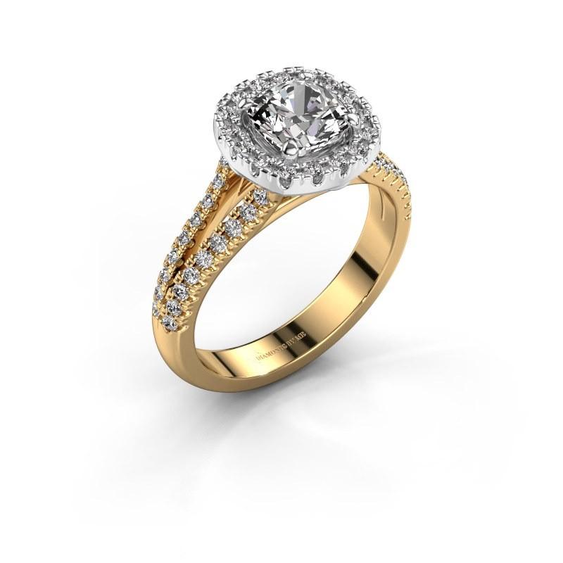 Verlovingsring Francesca 585 goud lab-grown diamant 1.64 crt