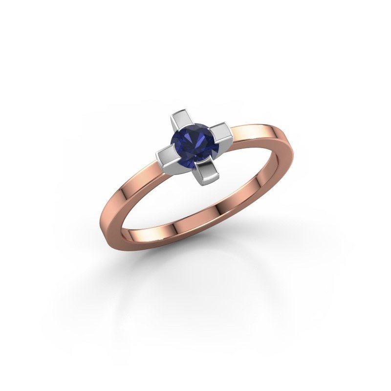 Ring Therese 585 rosé goud saffier 4.2 mm