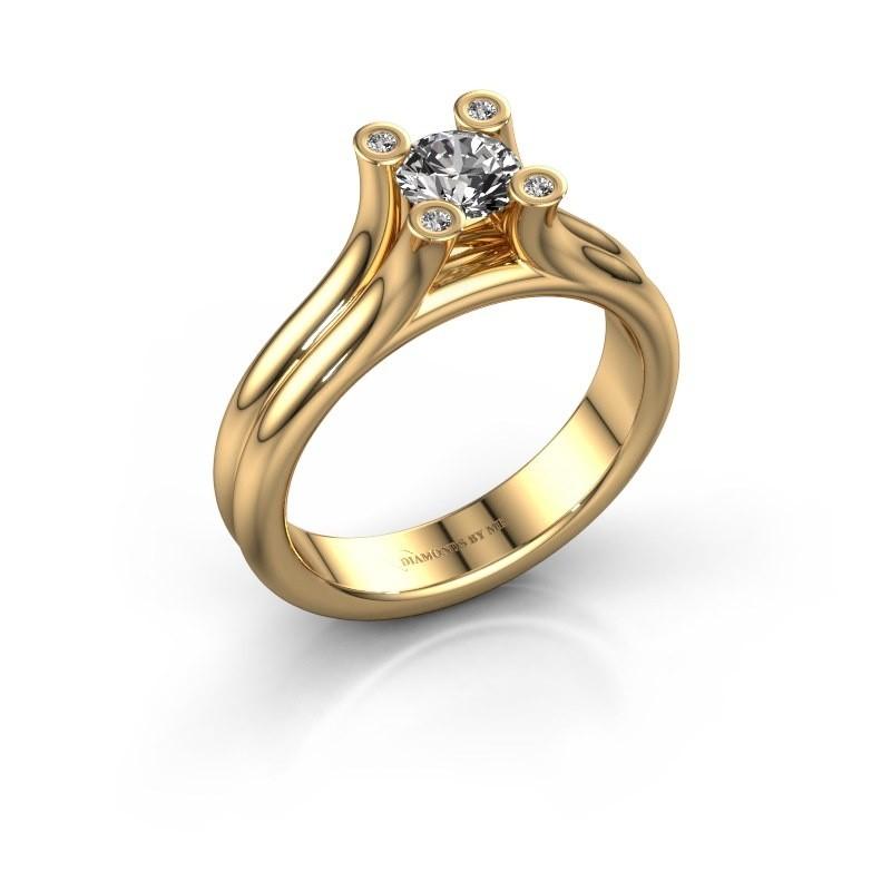 Engagement ring Stefanie 1 585 gold lab-grown diamond 0.50 crt