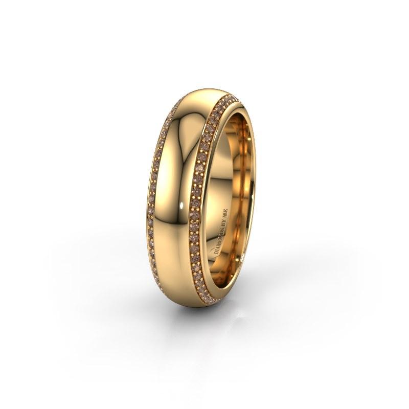 Ehering WH6132L36C 585 Gold Braun Diamant ±6x2.2 mm