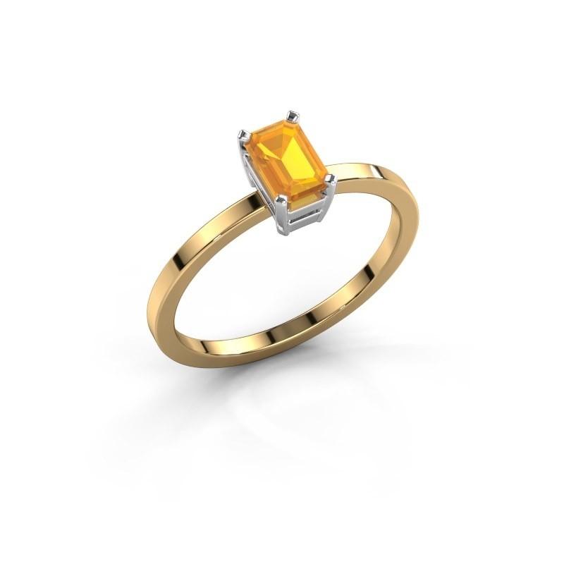 Verlobungsring Denita 1 585 Gold Citrin 6x4 mm