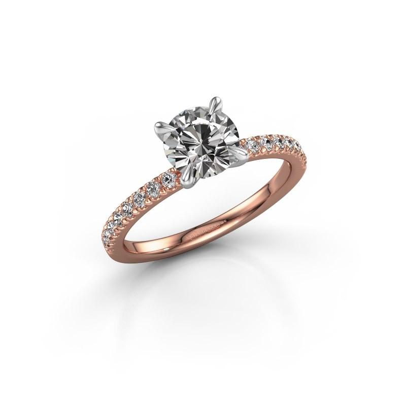 Verlobungsring Crystal rnd 2 585 Roségold Diamant 1.24 crt