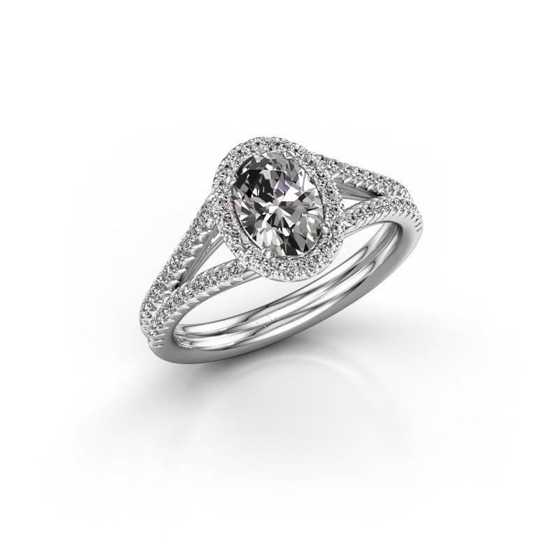 Engagement ring Rachele 2 925 silver diamond 1.174 crt