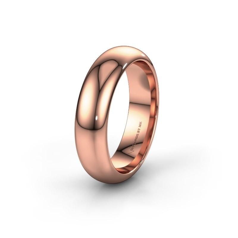 Trouwring WH6132M36C 375 rosé goud ±6x2.2 mm