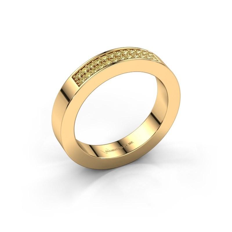 Aanschuifring Catharina 1 375 goud gele saffier 1.1 mm