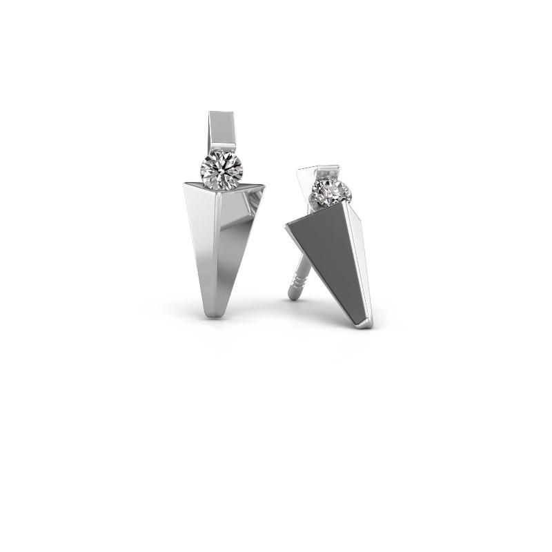 Oorbellen Corina 585 witgoud lab-grown diamant 0.20 crt