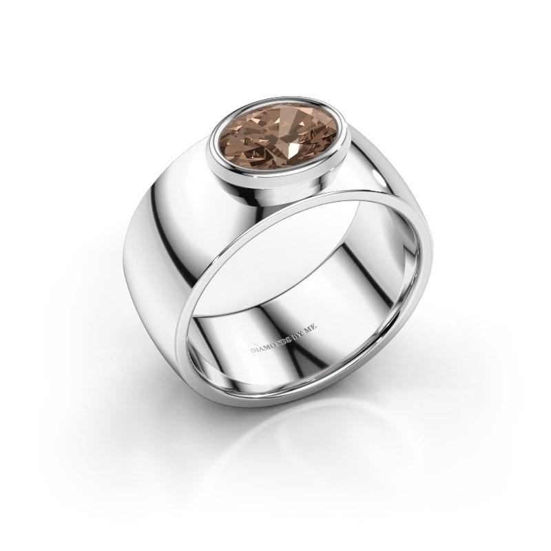 Ring Wilma 1 925 zilver bruine diamant 1.15 crt