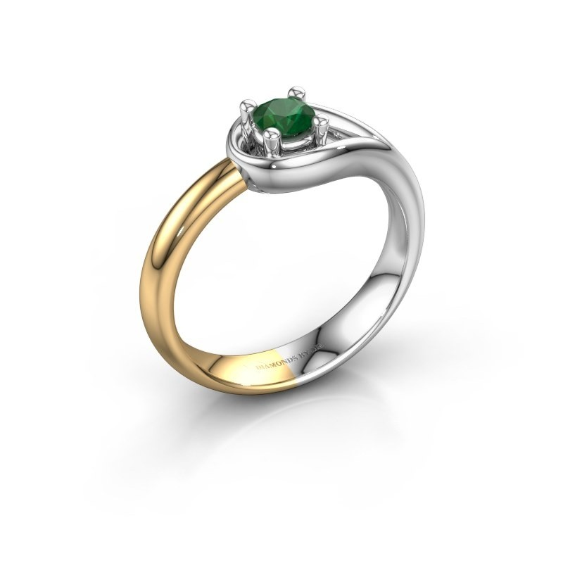 Ring Fabienne 585 white gold emerald 4 mm