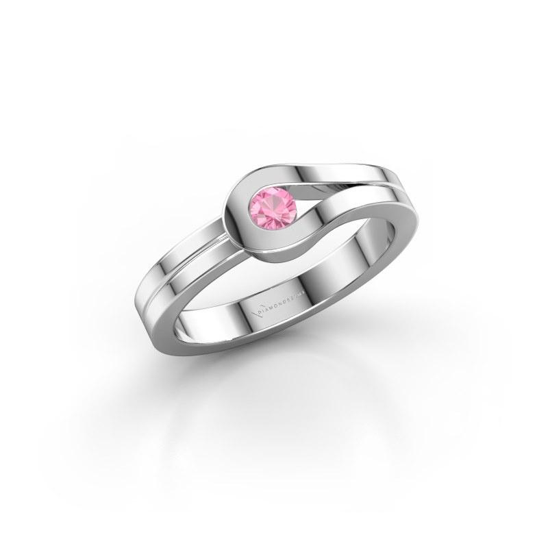 Ring Kiki 925 Silber Pink Saphir 3 mm
