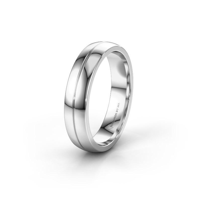 Wedding ring WH0200M25BP 585 white gold ±0.20x0.08 in