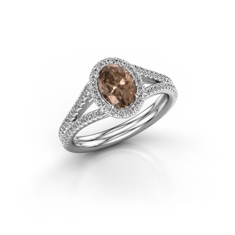 Verlobungsring Rachele 2 950 Platin Braun Diamant 1.174 crt