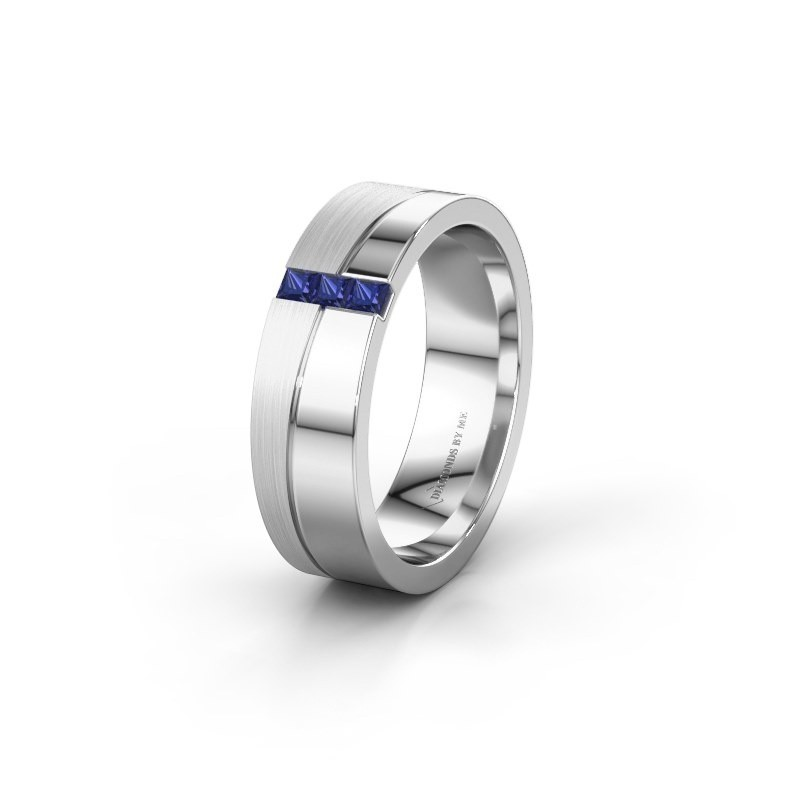 Wedding ring WH0906L16A 925 silver sapphire ±6x1.7 mm