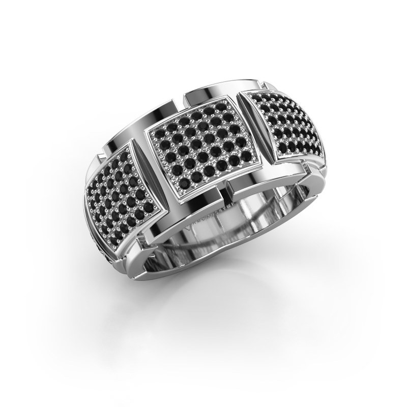 Ring Laura 950 platina zwarte diamant 0.90 crt