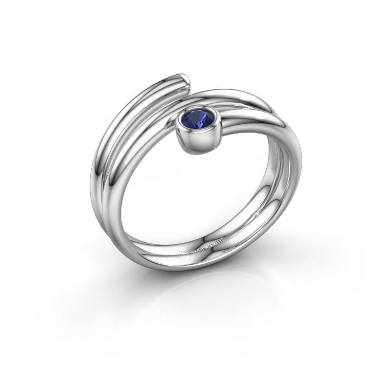 Ring Jenna 925 zilver saffier 3 mm