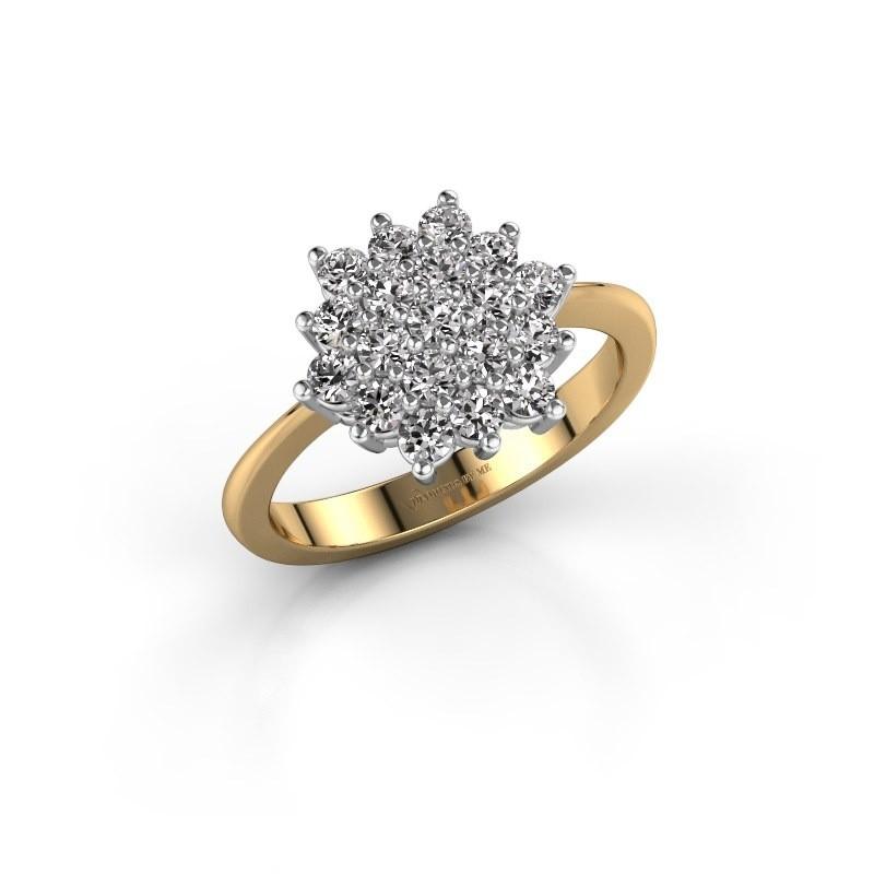 Engagement ring Vickey 2 585 gold zirconia 2 mm