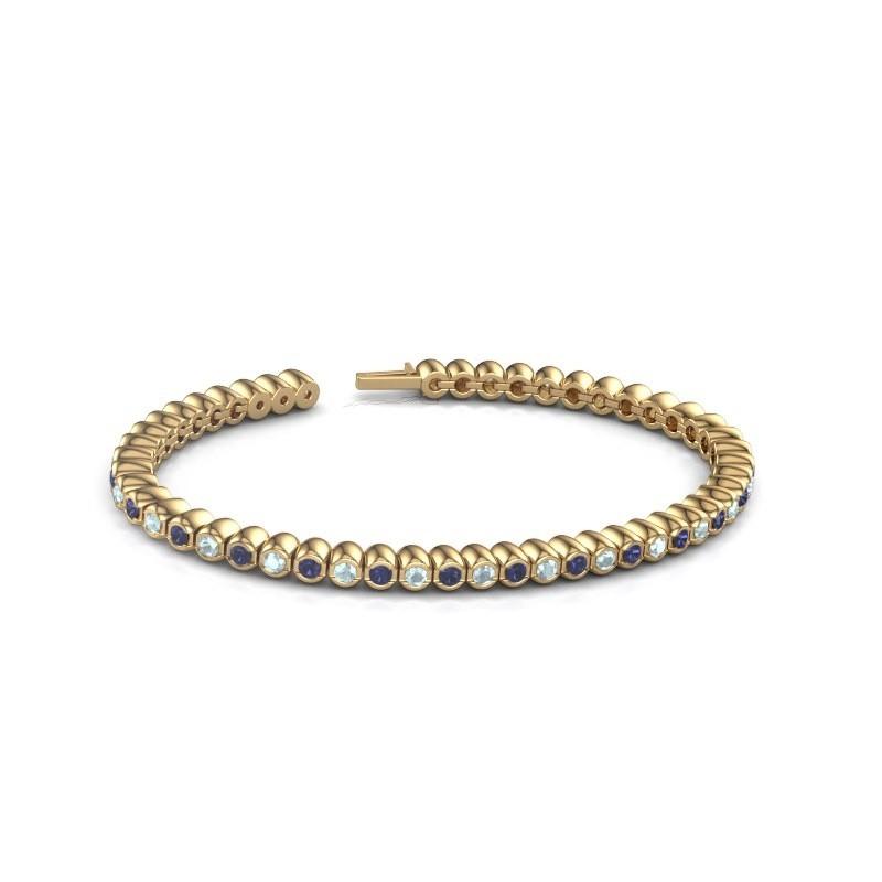 Tennisarmband Patrica 375 goud saffier 2.4 mm