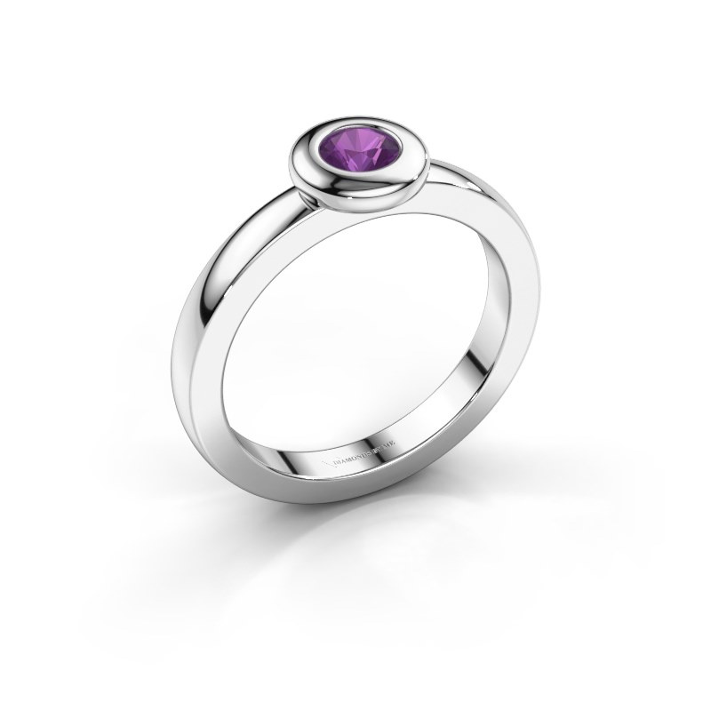 Ring Iris 925 silver amethyst 4 mm