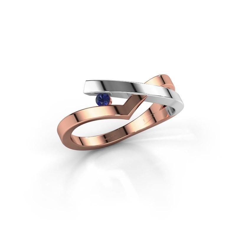 Ring Pamella 585 rosé goud saffier 2.2 mm