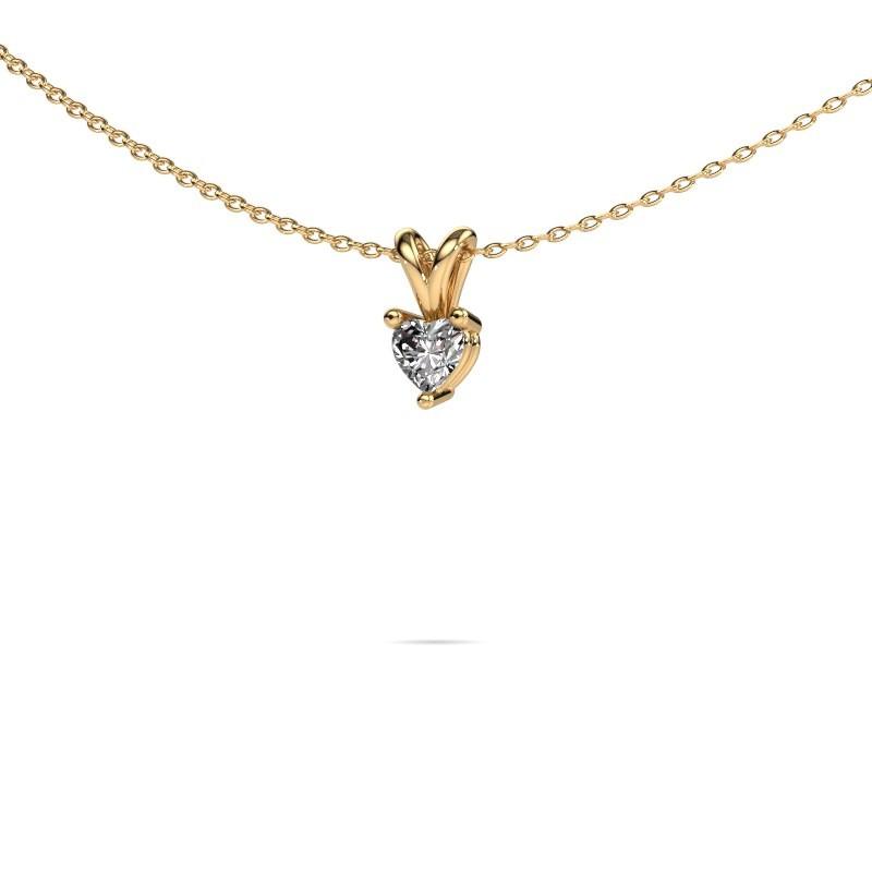 Kette Garnet 585 Gold Lab-grown Diamant 0.25 crt