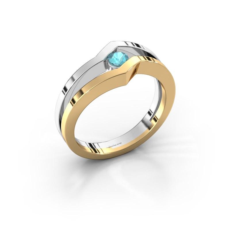 Ring Elize 585 gold blue topaz 3.4 mm