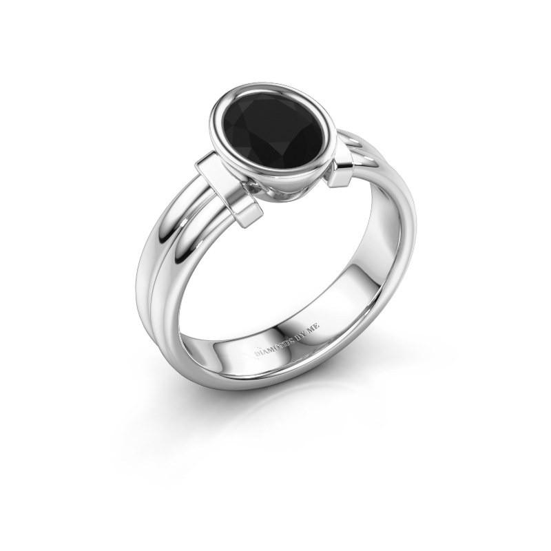 Ring Gerda 925 zilver zwarte diamant 1.380 crt