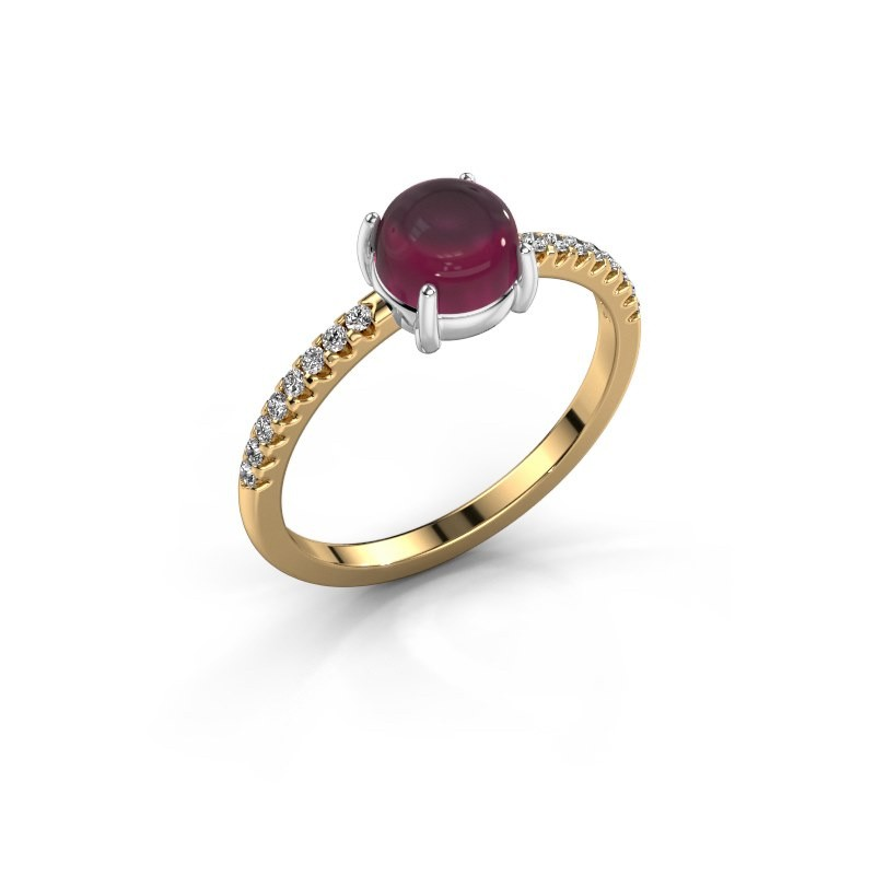 Ring Cathie 585 goud rhodoliet 6 mm