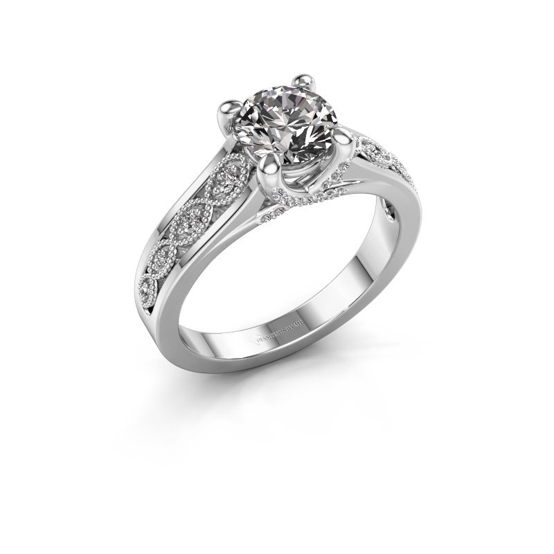 Engagement ring Clarine 925 silver zirconia 6.5 mm