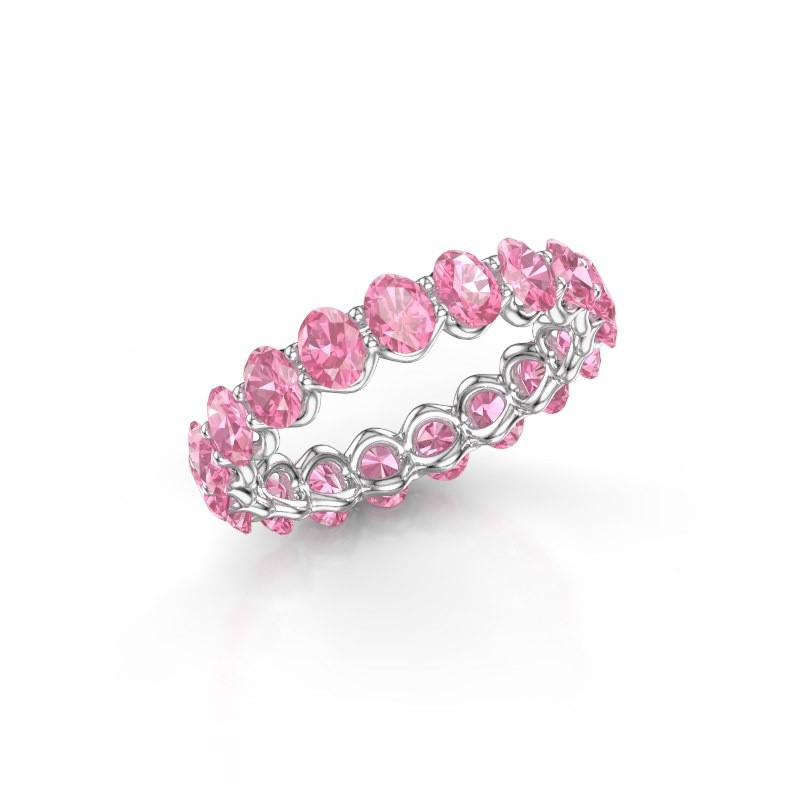 Ring Kirsten OVL 4x3 585 Weißgold Pink Saphir 4x3 mm