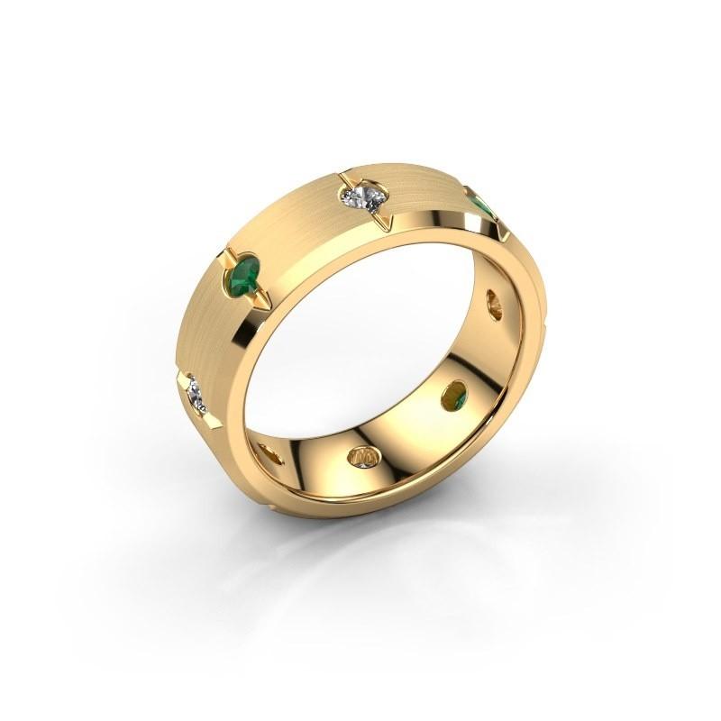 Herren ring Irwin 585 Gold Smaragd 2.7 mm