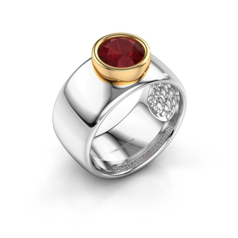 Ring Klarinda 585 witgoud robijn 7 mm