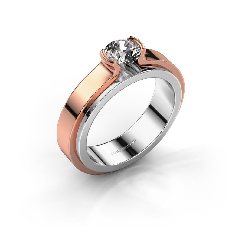 Verlobungsring Jacinda 585 Weißgold Diamant 0.60 crt