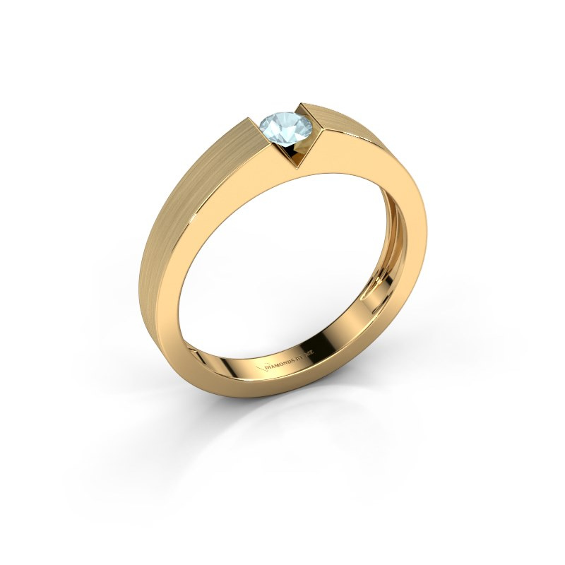 Verlovingsring Lizzy 1 585 goud aquamarijn 3.7 mm