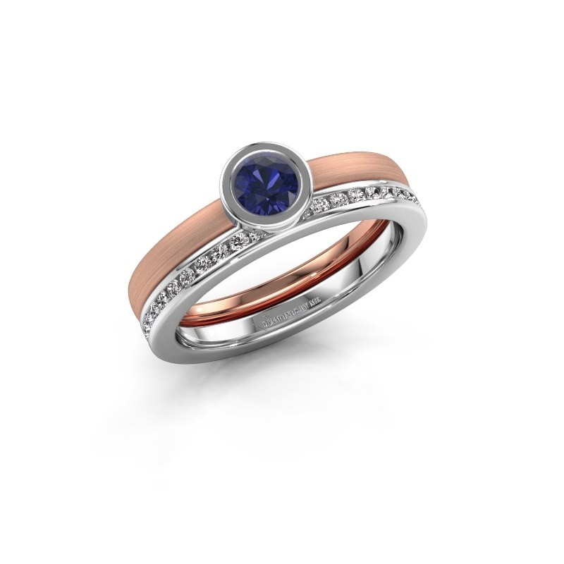 Ring Cara 585 rose gold sapphire 4 mm