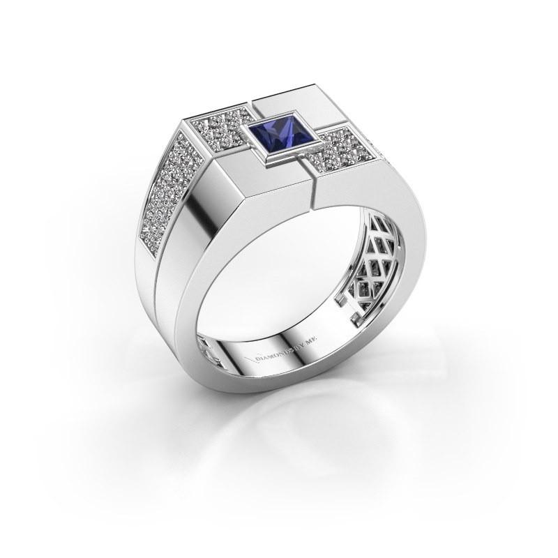 Men's ring Rogier 950 platinum sapphire 4 mm